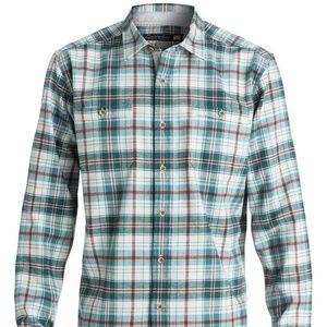Quiksilver Men's Waterman RALEIGH Green LS Shirt L